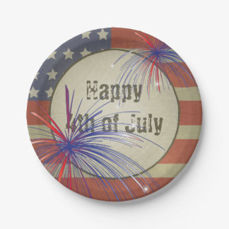 Happy 4th of July | Vintage Style Paper Plate