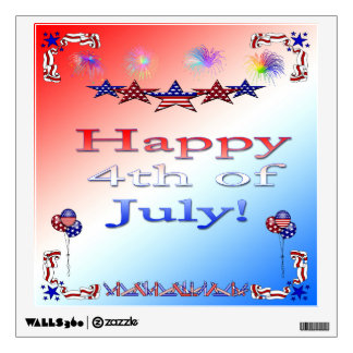 Happy 4th of July Wall Decal