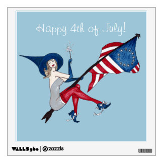 Happy 4th of July Wall Sticker