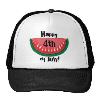 Happy 4th of July watermelon black hat