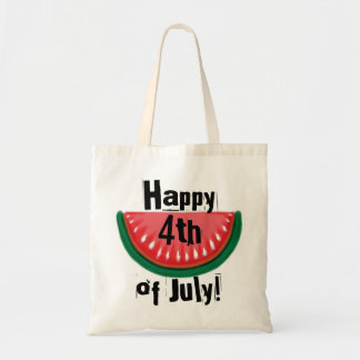 Happy 4th of July watermelon reusable bag