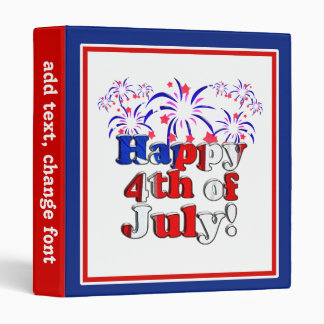 Happy 4th of July with Fireworks Binders