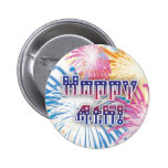 Happy 4th of July with fireworks button