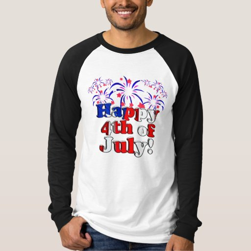 Happy 4th of July with Fireworks T-Shirt