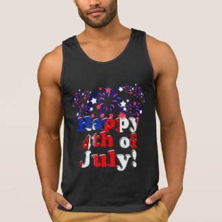 Happy 4th of July with Fireworks Tank Top