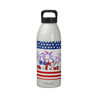 Happy 4th of July with Fireworks Water Bottles
