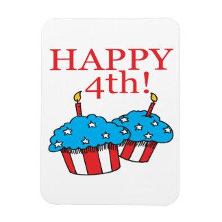 Happy 4th rectangular photo magnet
