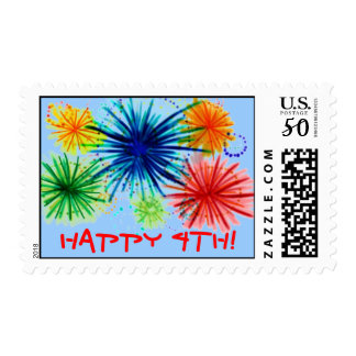 Happy 4th stamp