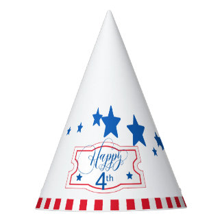 Happy 4th Stars and Stripes ID138 Party Hat
