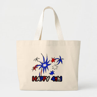 Happy 4th (Stars) Large Tote Bag