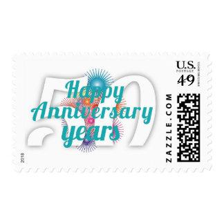 Happy 50 Year Anniversary Celebration Stamp