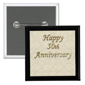 Happy 50th Anniversary Button