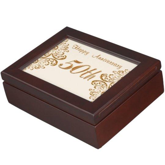 Happy 50th Anniversary Gift Ideas: Keepsake Box