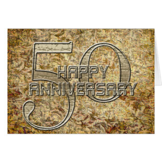 Happy 50th Anniversary Greeting Card