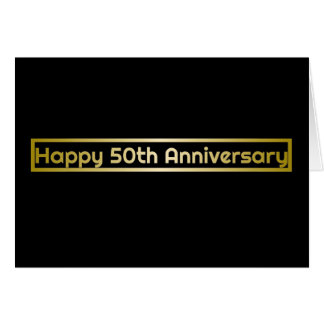 Happy 50th Anniversary greeting card #8418