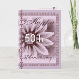 Happy 50th Anniversary - LAVENDER Flower Card
