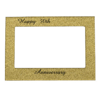 Happy 50th Anniversary Magnetic Picture Frame