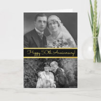 Happy 50th Anniversary Personalized Photo Card