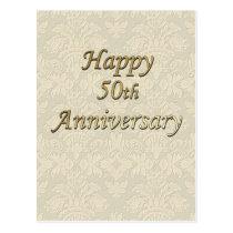 Happy 50th Anniversary Postcard