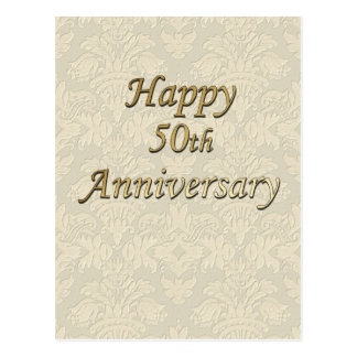 Happy 50th Anniversary Postcard