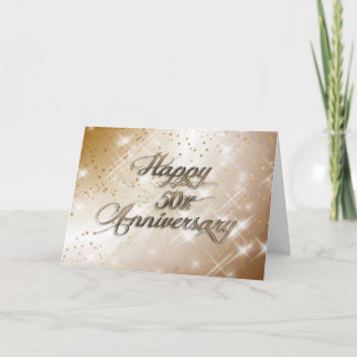 Happy 50th Anniversary (wedding anniversary) Card