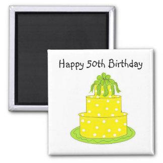 Happy 50th Birthday 2 Inch Square Magnet
