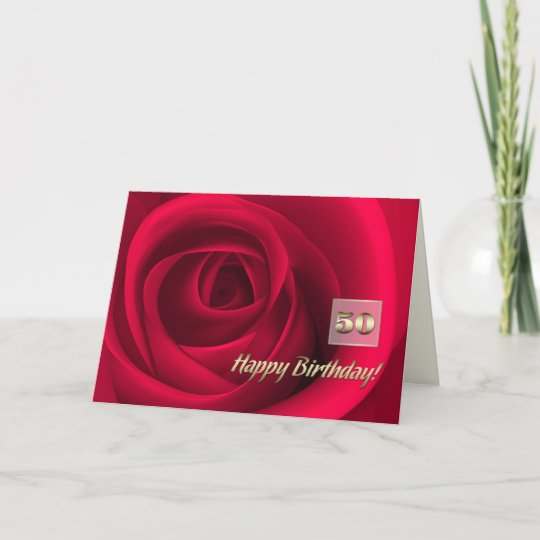 Happy 50th Birthday Customizable Greeting Cards