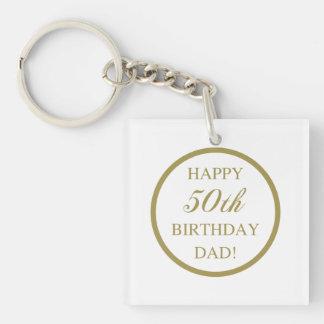 Happy 50th Birthday Dad Keychain