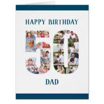 Happy 50th Birthday Dad Number 50 Photo Collage