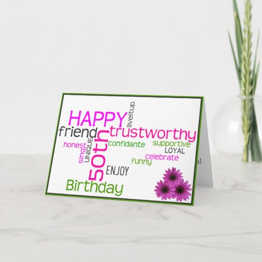 Happy 50th Birthday For A Baby Boomer Woman Card