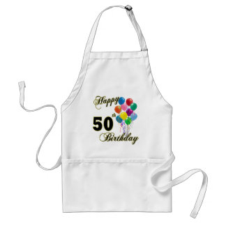 Happy 50th Birthday Gifts and Birthday Apparel Adult Apron