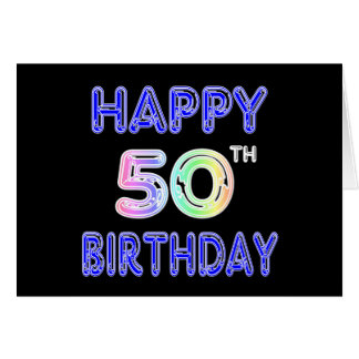 Happy 50th Birthday Gifts and Birthday Apparel Card