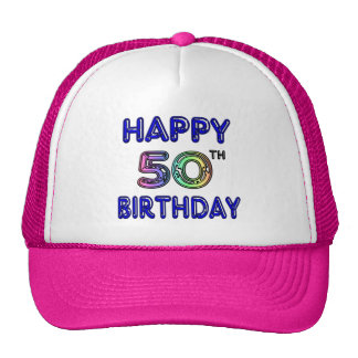 Happy 50th Birthday Gifts and Birthday Apparel Trucker Hat