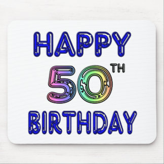 Happy 50th Birthday Gifts and Birthday Apparel Mouse Pad