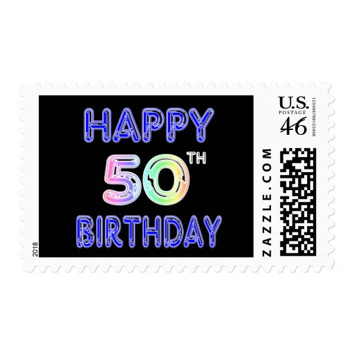 Happy 50th Birthday Gifts and Birthday Apparel Stamp