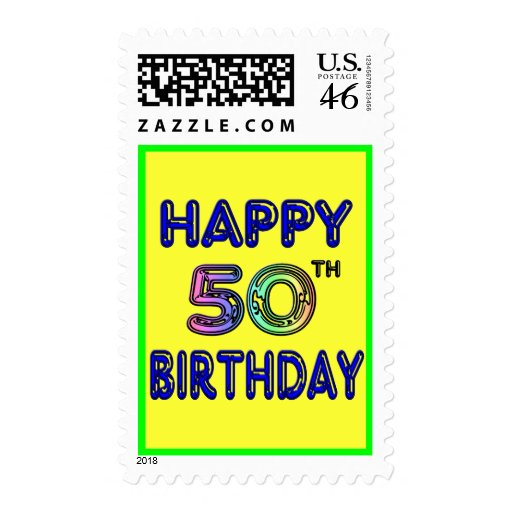 Happy 50th Birthday Gifts and Birthday Apparel Postage