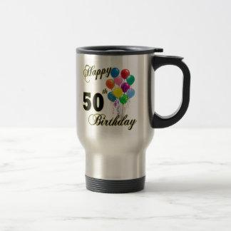 Happy 50th Birthday Gifts and Birthday Apparel Travel Mug