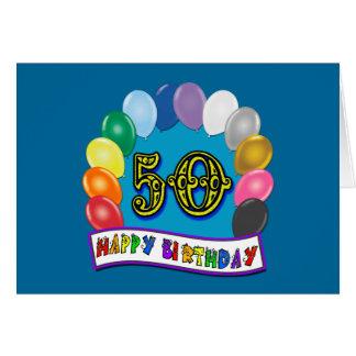 Happy 50th Birthday Merchandise Card
