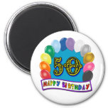 Happy 50th Birthday Merchandise Fridge Magnets