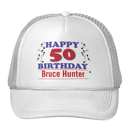 Happy 50th Birthday Mesh Hats