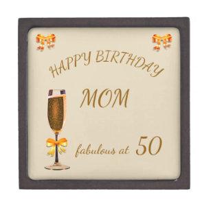 Happy 50th Birthday Mom Gift Box