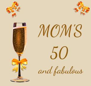 happy 50th birthday mom glass coaster