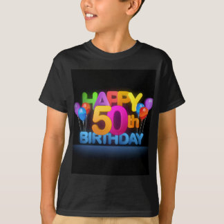 Happy 50th Birthday Title dark T-Shirt