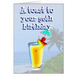 Happy 50th Birthday Toast Greeting Cards