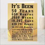 "Happy 50th Gold Wedding Anniversary Card<br><div class=""desc"">Happy 50th Gold Wedding Anniversary</div>"