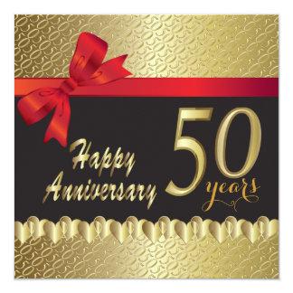 Happy 50th Golden Anniversary Card