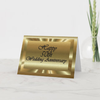 Happy 50th Wedding Anniversary Card