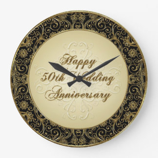 Happy 50th Wedding Anniversary Clock