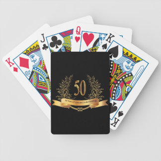 Happy 50th Wedding Anniversary Gifts Bicycle Playing Cards