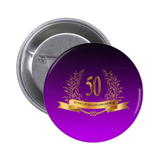 Happy 50th Wedding Anniversary Gifts Button